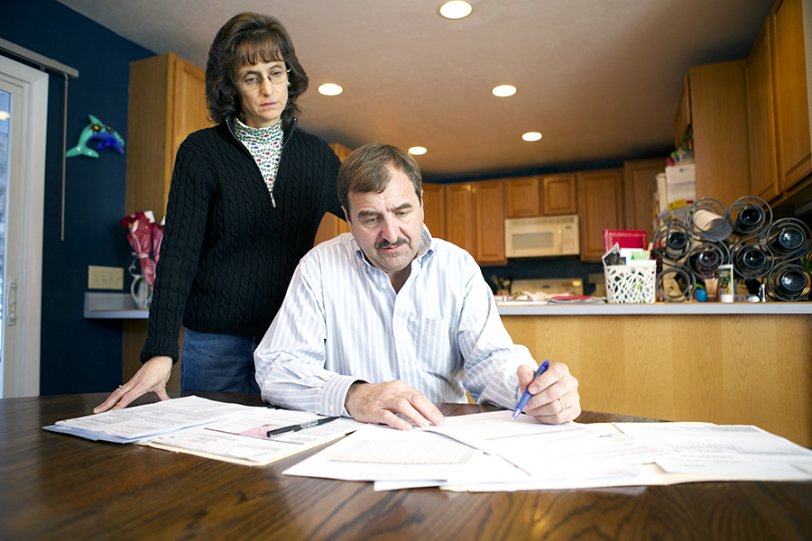 Vreni and John Diemoz of Glenwood Springs have faced extremely high health insurance prices. Photo: Katrina Smith,  Denver Business Journal.