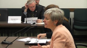 Patty at April exchange lege hearing