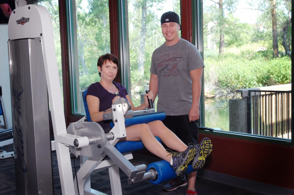 Denise Capelli's trainer, Ben Demko, is one of several people who have supported her recovery. Several family members and other supporters plan to join her for the climb up Mount Bierstadt. (Photo courtesy John Capelli.)
