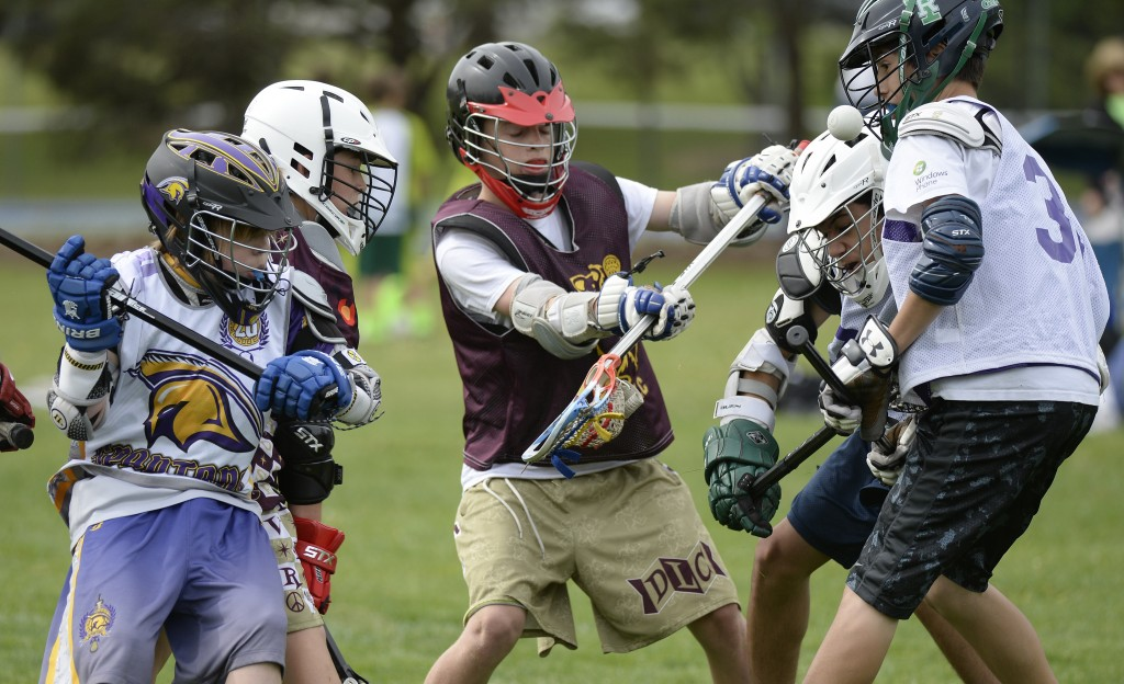 In lacrosse, boys wear helmets and pads. Girls by comparison do not. A new study shows girls might benefit from protective gear even though they're not supposed to hit each other directly.