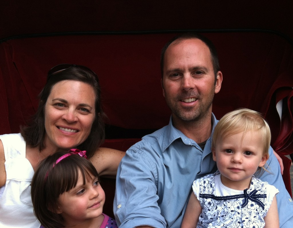 The Hurons of Steamboat Springs, with their two daughters. (Photo courtesy of the Huron family.)