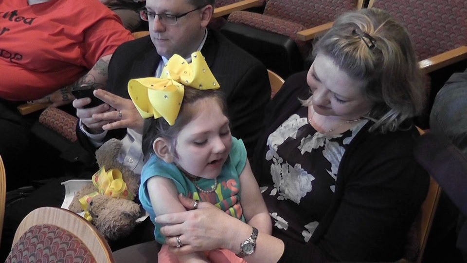 "Haleigh Cox, 5, started suffering as many as 200 seizures a day when she was 8-months-old. Her mom, Janea Cox, moved from Georgia to Colorado in March so she could give Haleigh marijuana infused oil. She said Haleigh has had fewer seizures and has learned to say ""mama"" for the first time."