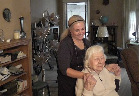 Mary Brandell, 92, is able to stay in her Denver home thanks to three hours of help a week from Tracy Turner, a home care assistant. The two have developed a close bond.