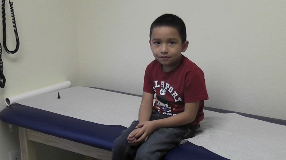 Emmanuel Arroniz, 4, gets a checkup at the Rocky Mountain Youth Clinics' Kids Clinic at Crawford Elementary School in Aurora. The clinic provides care for children in one of the highest poverty areas in Colorado.