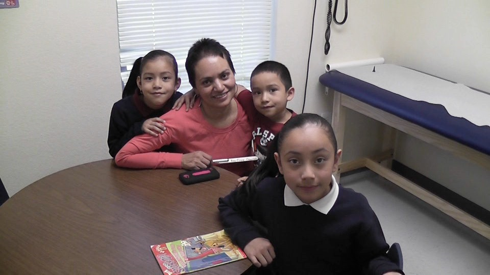 Maria Duron has lived in Aurora for about 14 years. Her daughters, Avril, 9, and Anel, 6, attend Crawford Elementary School. Their brother, Emmanuel, 4, needed a checkup this week and was able to get it at the Kids Clinic adjacent to the school.