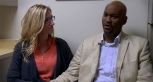 Erin Moore and her husband, Michael Moore, enrolled in a clinical trial at the University of Colorado Cancer Center to treat Michael's advanced lung cancer. The couple, who have been together for seven years, were married in November.(Marcy MacCarthy/Special to Rocky Mountain PBS)