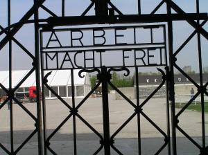 The gate at Dachau (Photo by Dr. David Cohn)